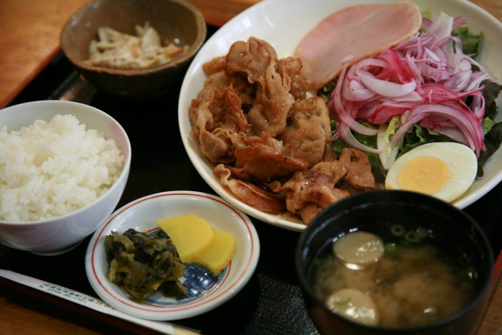 (豚の生姜焼き定食・780円(税込))