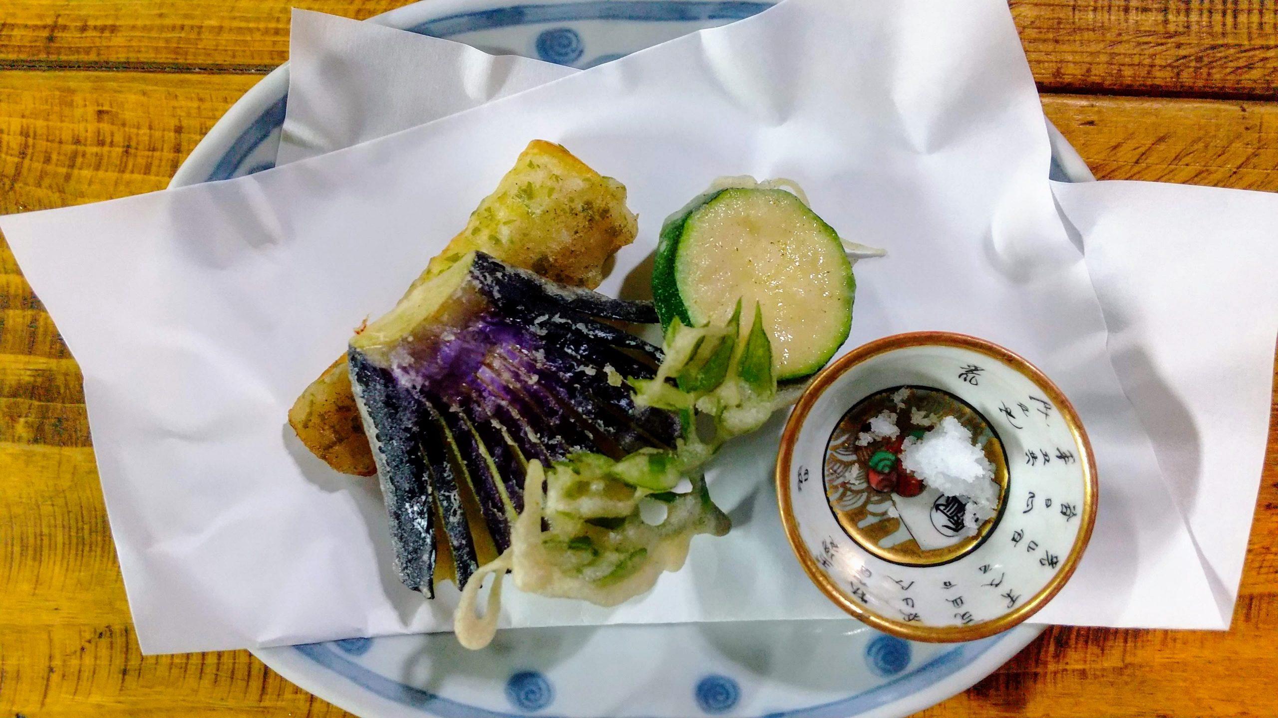 野菜のそば粉天ぷら
